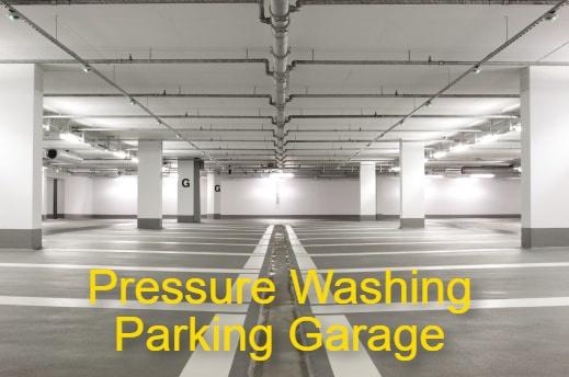 Commercial Pressure Washing Baltimore MD Parking Garage
